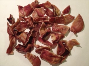 1lb Pig Ear Slivers